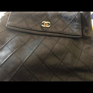 Authentic black Chanel backpack